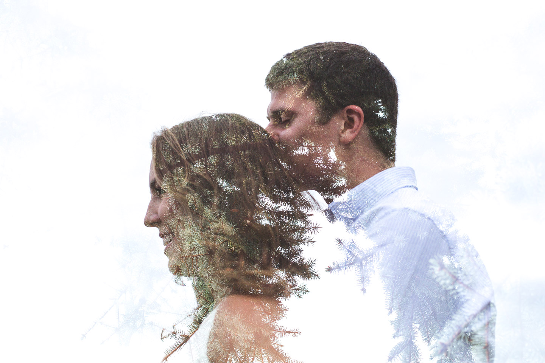 Engagement-Milford-Kensington-Metropark-Double-Exposure-Kissing