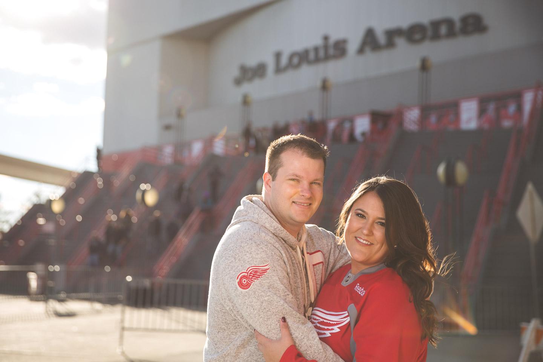 Engagement-Detroit-Red-Wings-Joe-Louis-Arena