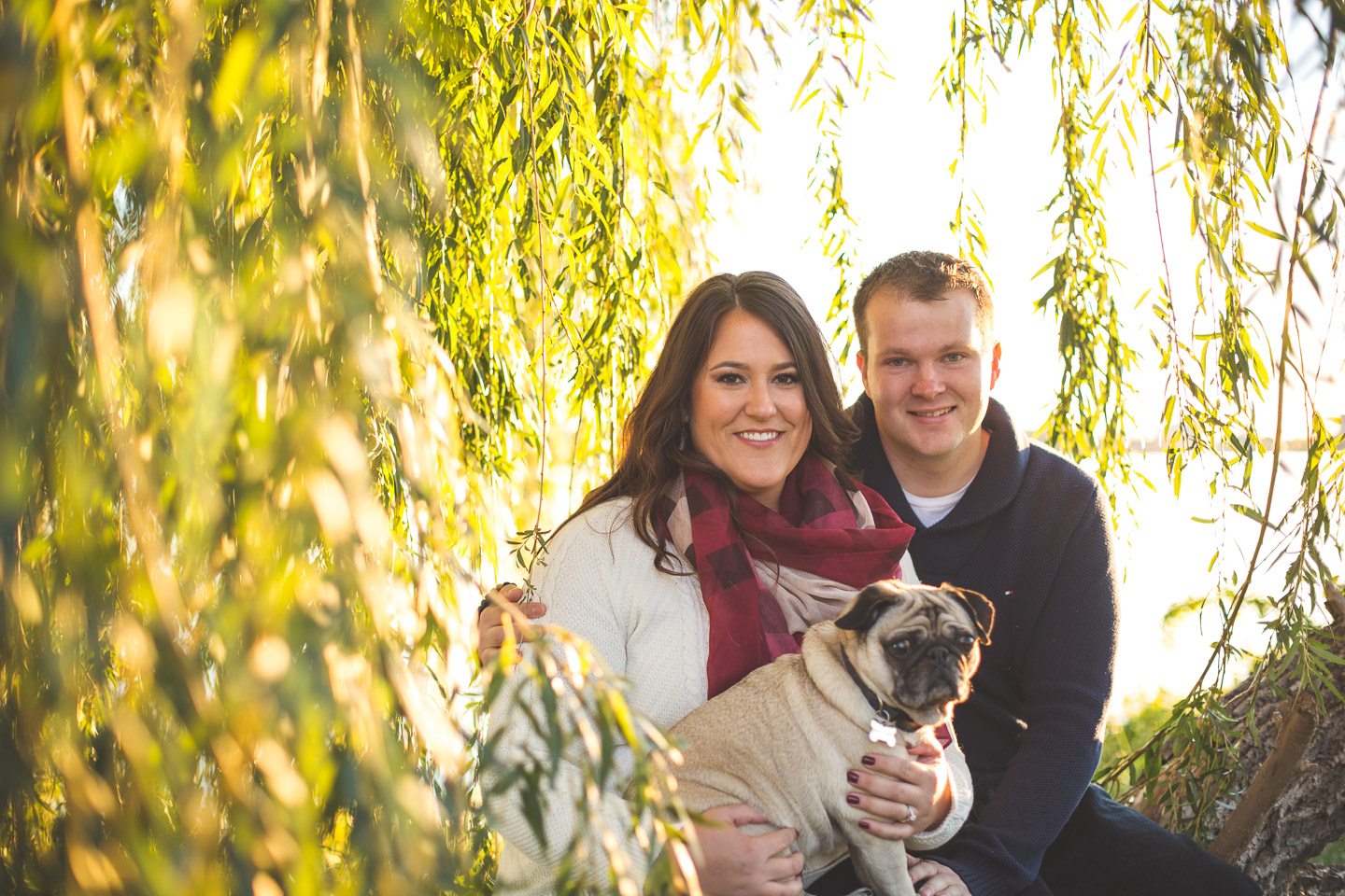 Engagement-Belle-Isle-Detroit-Willow-Couple-Dog