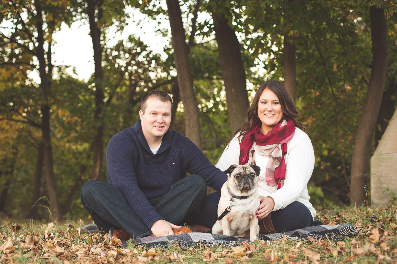 Engagement-Belle-Isle-Detroit-Picnic-Blanket-Dog-Couple-Autumn