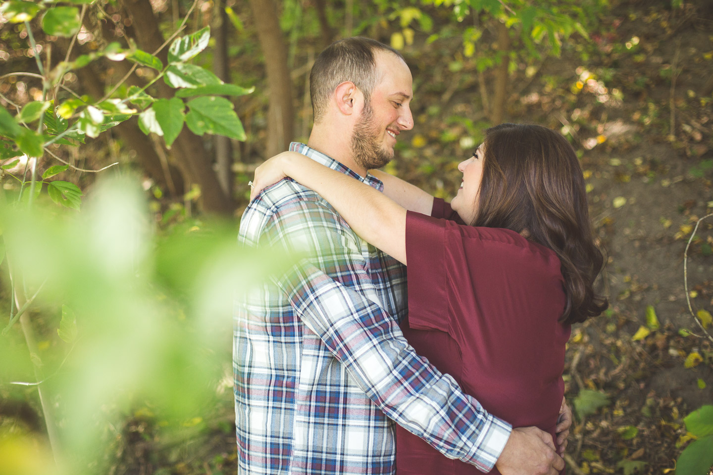 Engagement-Northville-Mill-Race-Village-David-Danielle-Shoot-Through-Leaves