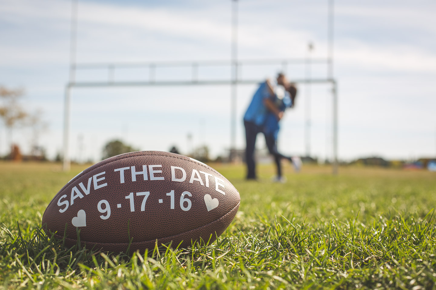 Engagement-Northville-High-School-David-Danielle-Lions-Football-Foreground