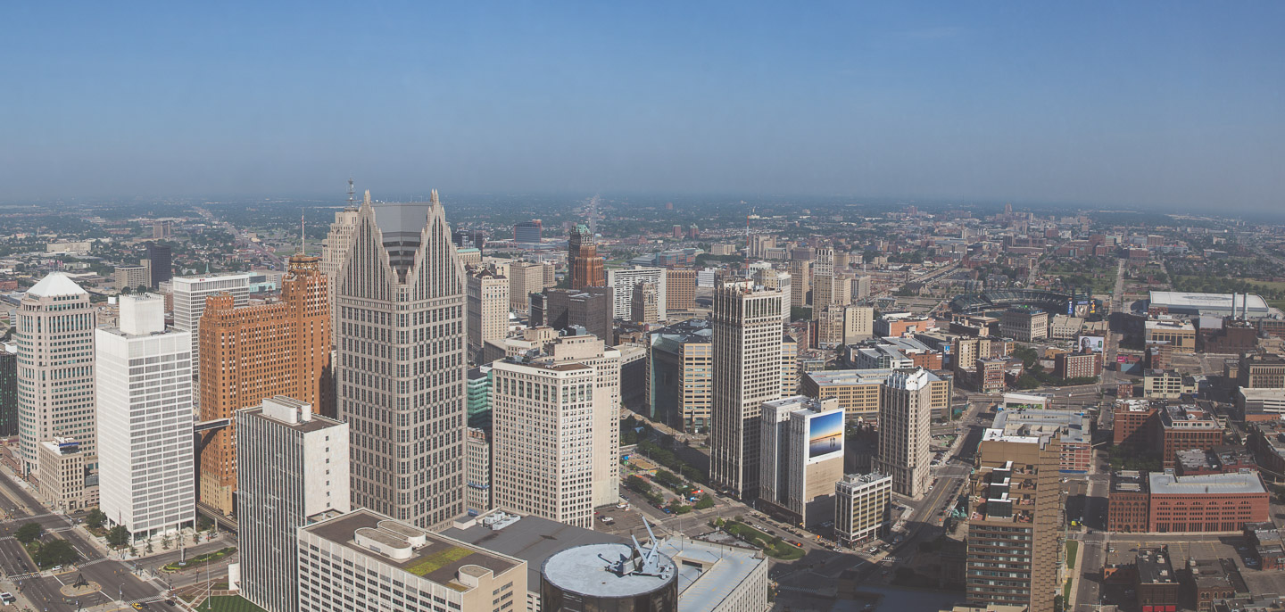 Detroit Skyline from Ren Cen