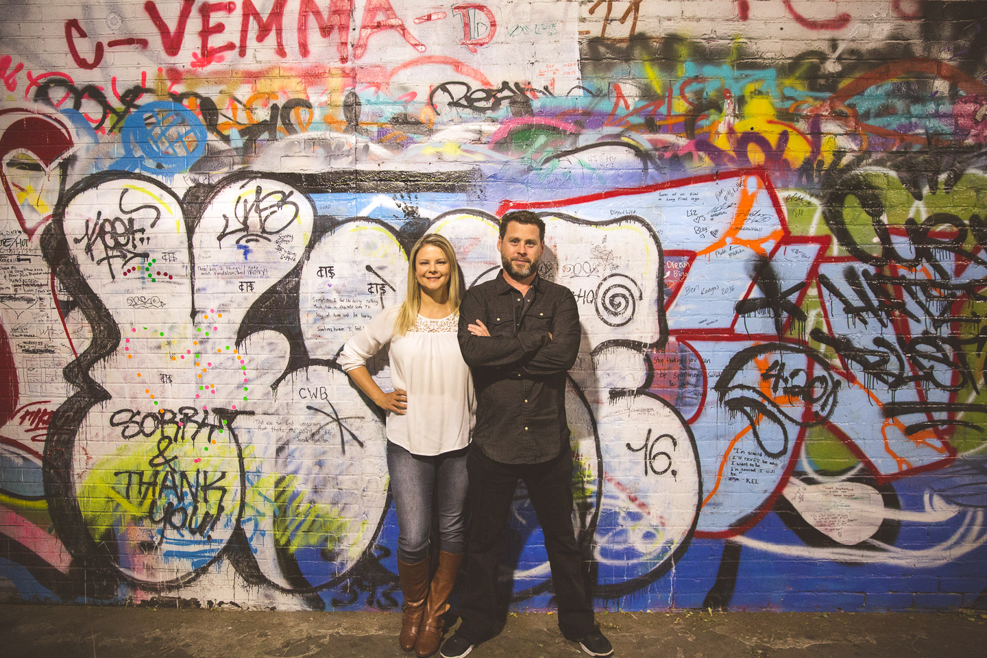 Ann-Arbor-Engagement-Session-Graffiti-Wall