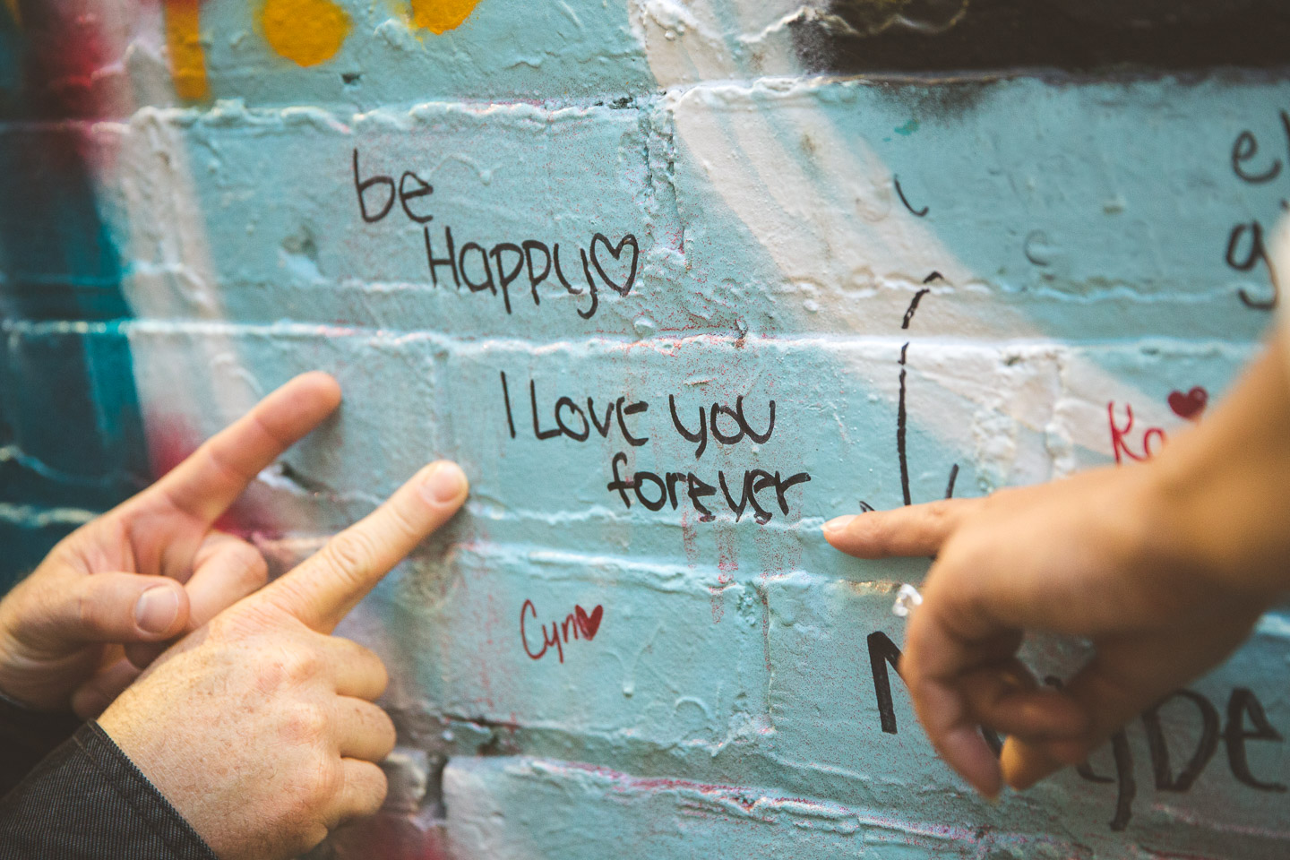 Ann-Arbor-Engagement-Session-Graffiti-Wall-I-Love-You