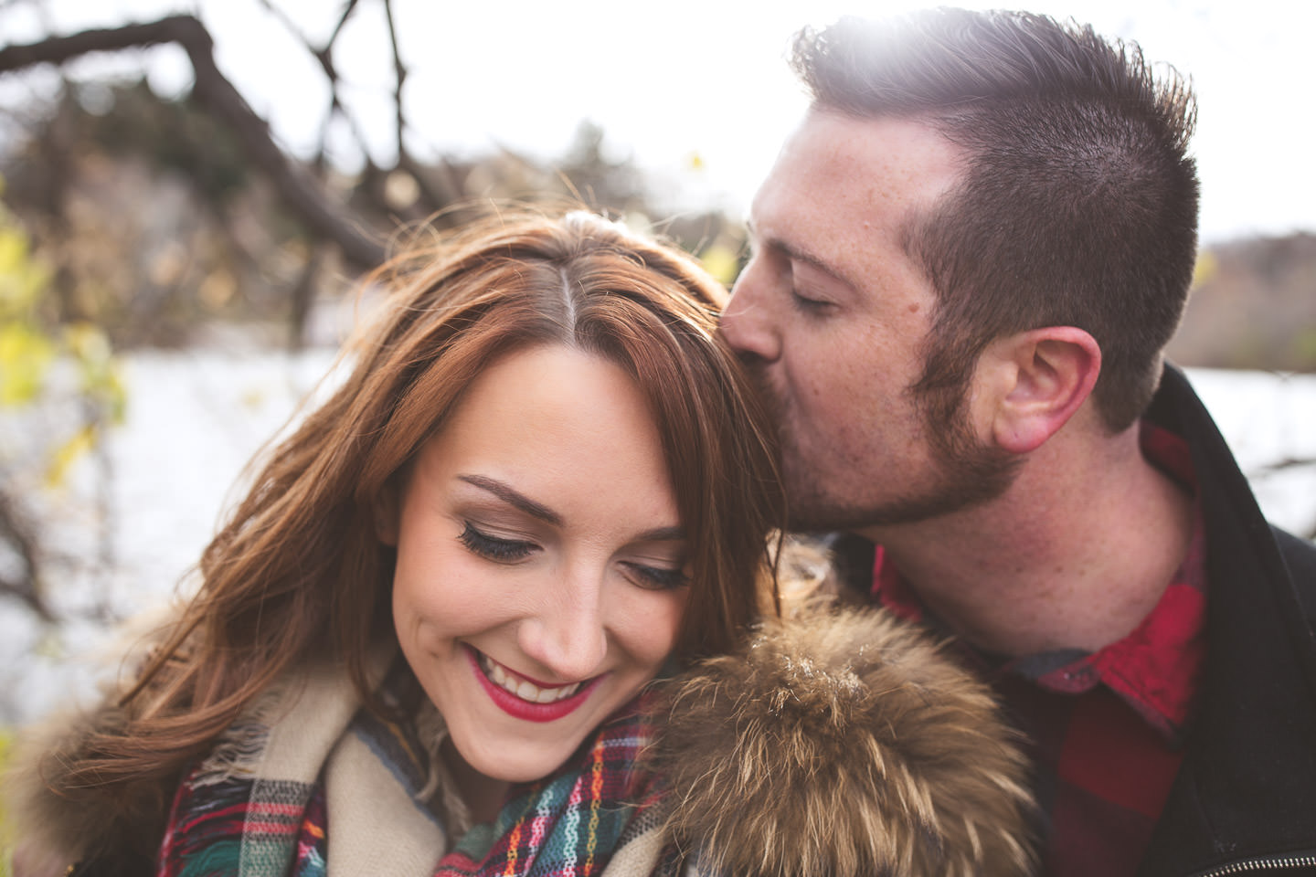 Cranbrook-Engagement-Photos-Lake-Kiss