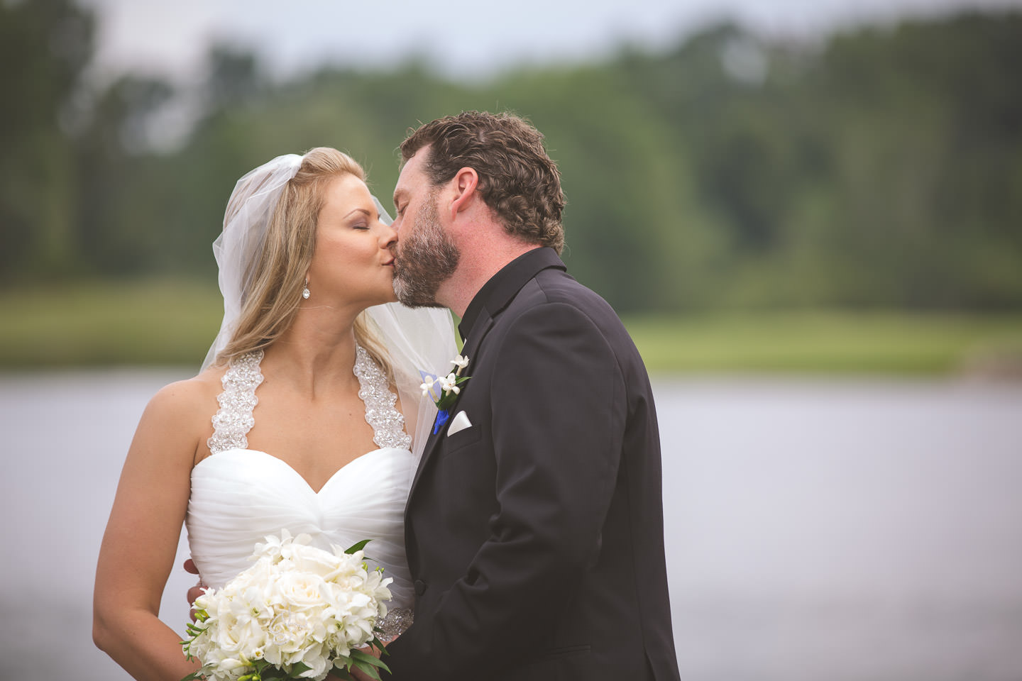 Mt-Brighton-Michigan-Wedding-Bride-Groom-Kiss
